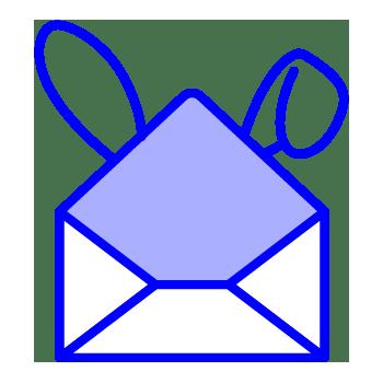 minuteman eigenes Kontakt Icon - Brief mit Hasenohren