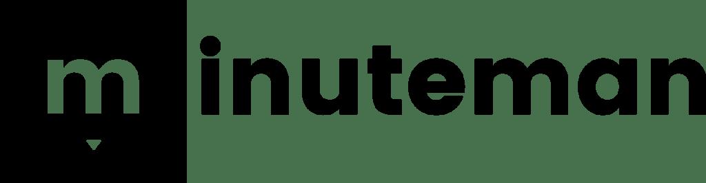 Minuteman - ein kreatives Duo für spannende Webseiten und einzigartige Designs in Villach - Logo mit Icon schwarz - digitalisieren. jetzt
