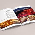 minuteman's Portfolio - Printdesign für das Hotel Almrausch in Bad Reichenhall - Hochglanz Broschüre Seite 5 Wellness