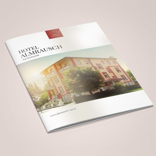 minuteman's Portfolio - Hotel Almrausch Bad Reichenhall - Hochglanz Broschüre vom Hotel Cover - Titelbild
