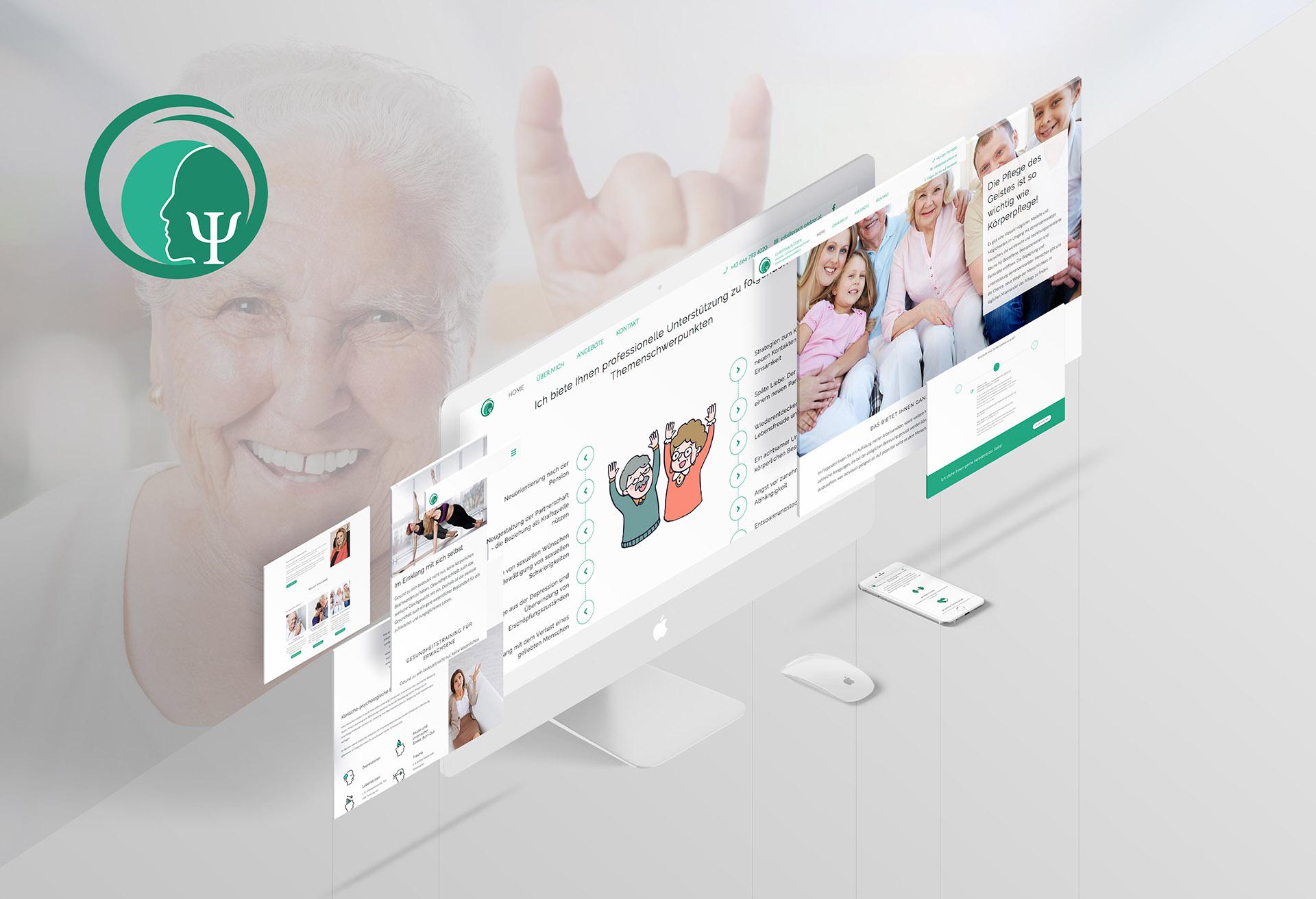 minuteman's Portfolio - Webdesign für die psychologische Praxis Pletzer in Innsbruck für Demenzkranke und Angehörige - Homepage Screen