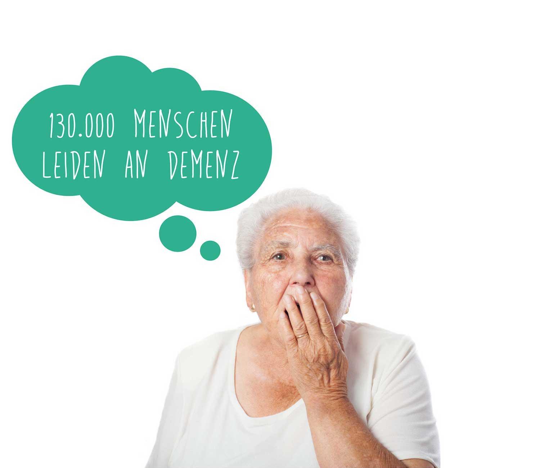 minuteman's Portfolio - Grafikdesign für die psychologische Praxis Pletzer in Innsbruck - alte Frau mit Sprechblase für Flyer