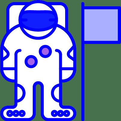 minuteman - Vorteile Aktionen - Innovation - Astronaut in blau