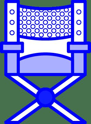 minuteman - Vorteile Aktionen - Kreation - Regiestuhl in blau