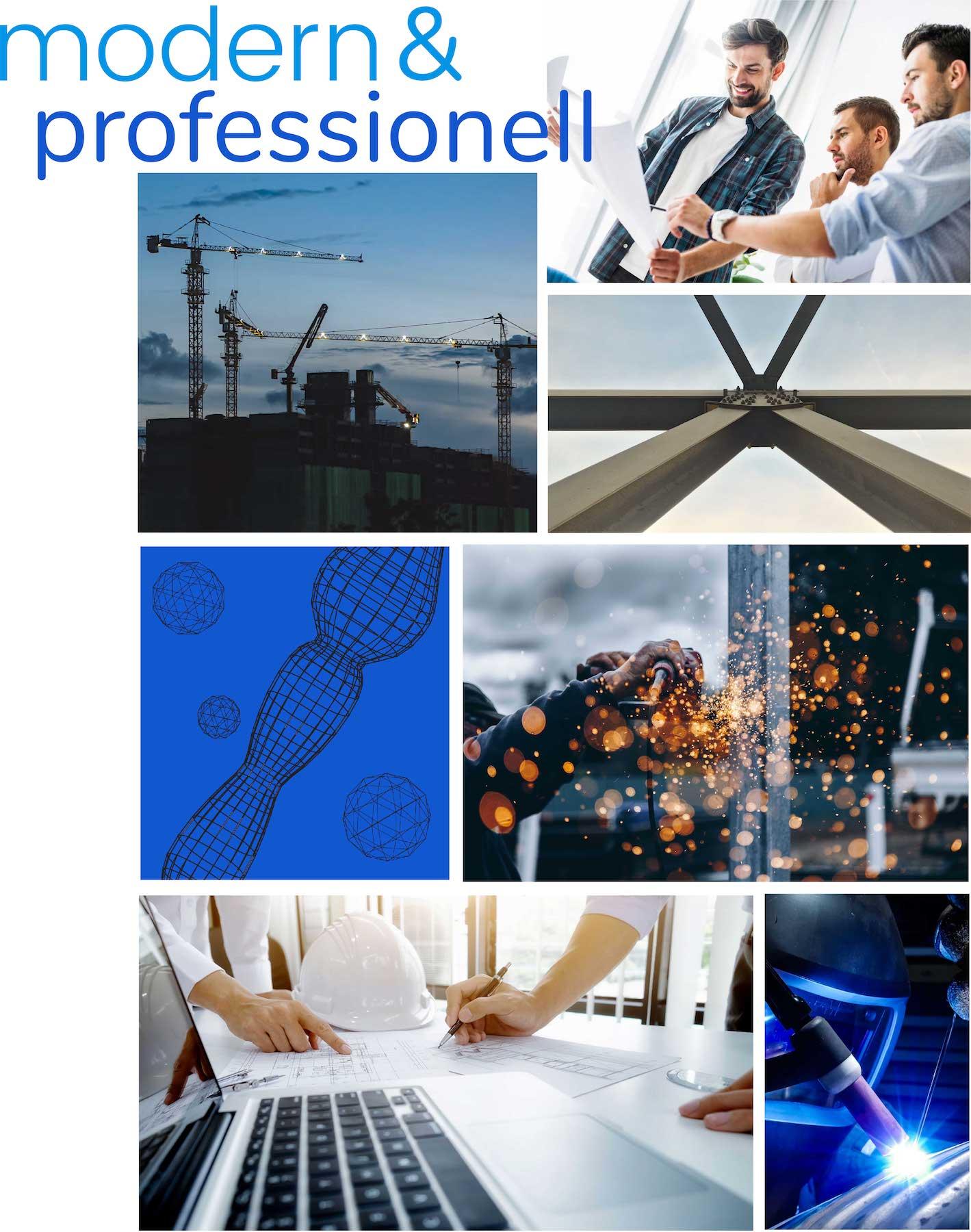 minuteman's Portfolio - Webdesign Moodboard für techperform - CAD Dienstleistungen und Stahlbau aus einer Hand - mobile Ansicht