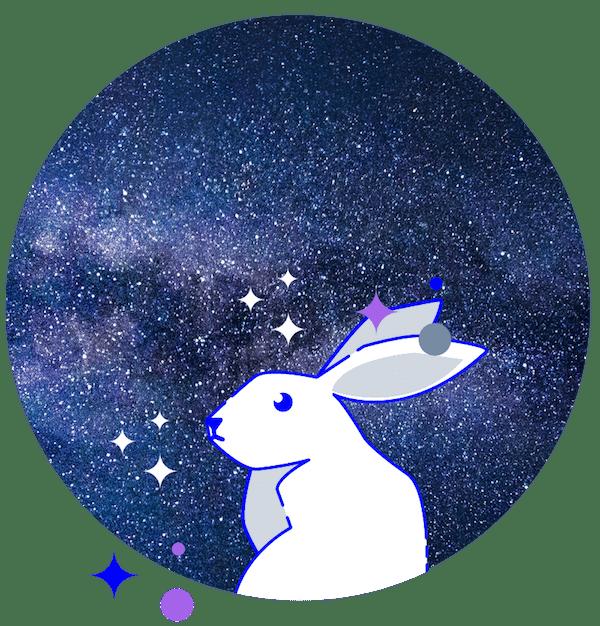 minuteman - weisses Kaninchen im Weltraum - wir öffnen neue Dimensionen