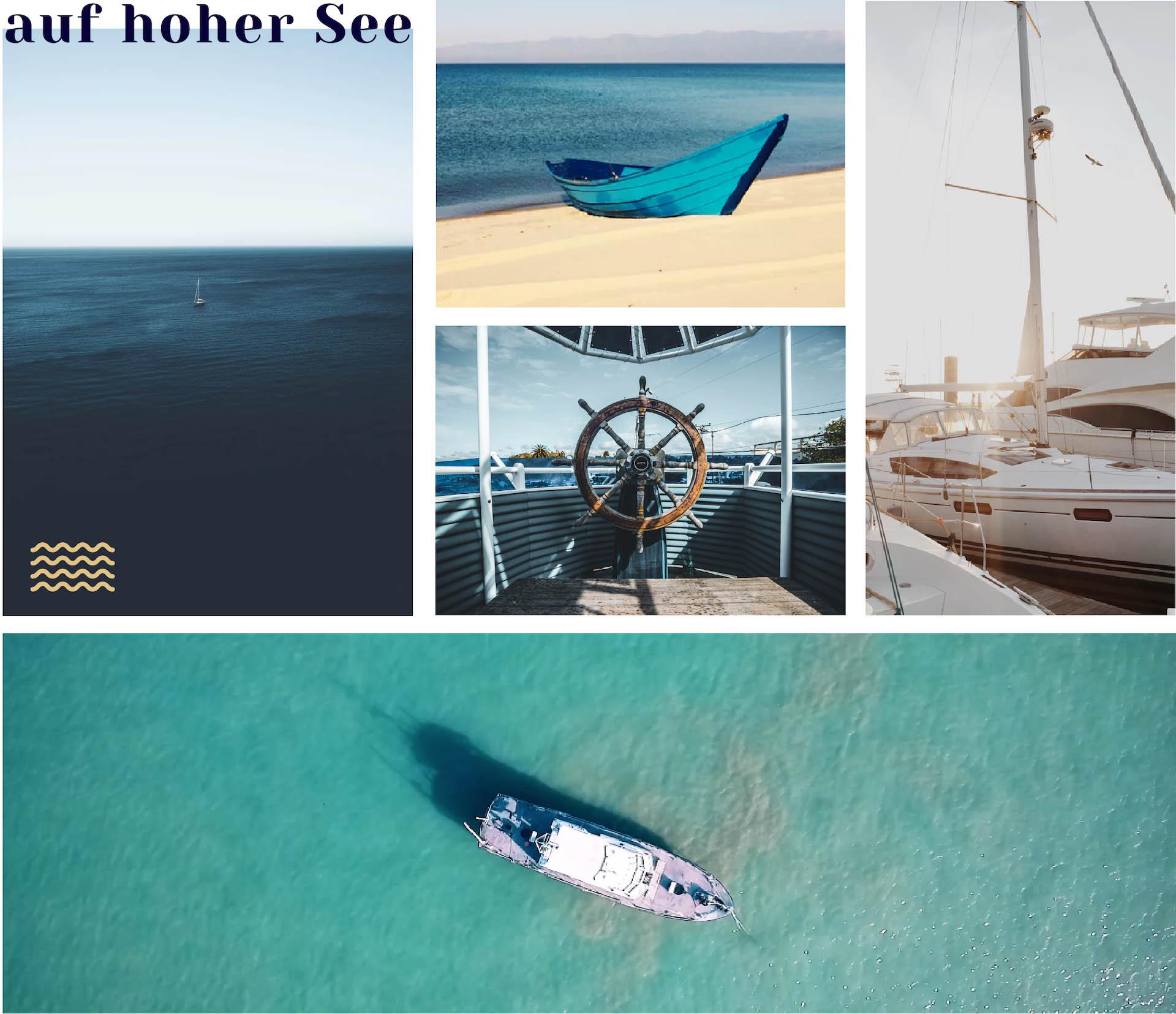 minuteman's Portfolio - Webdesign und Logoentwicklung für Chefs on Waves - Moodboard für Farben