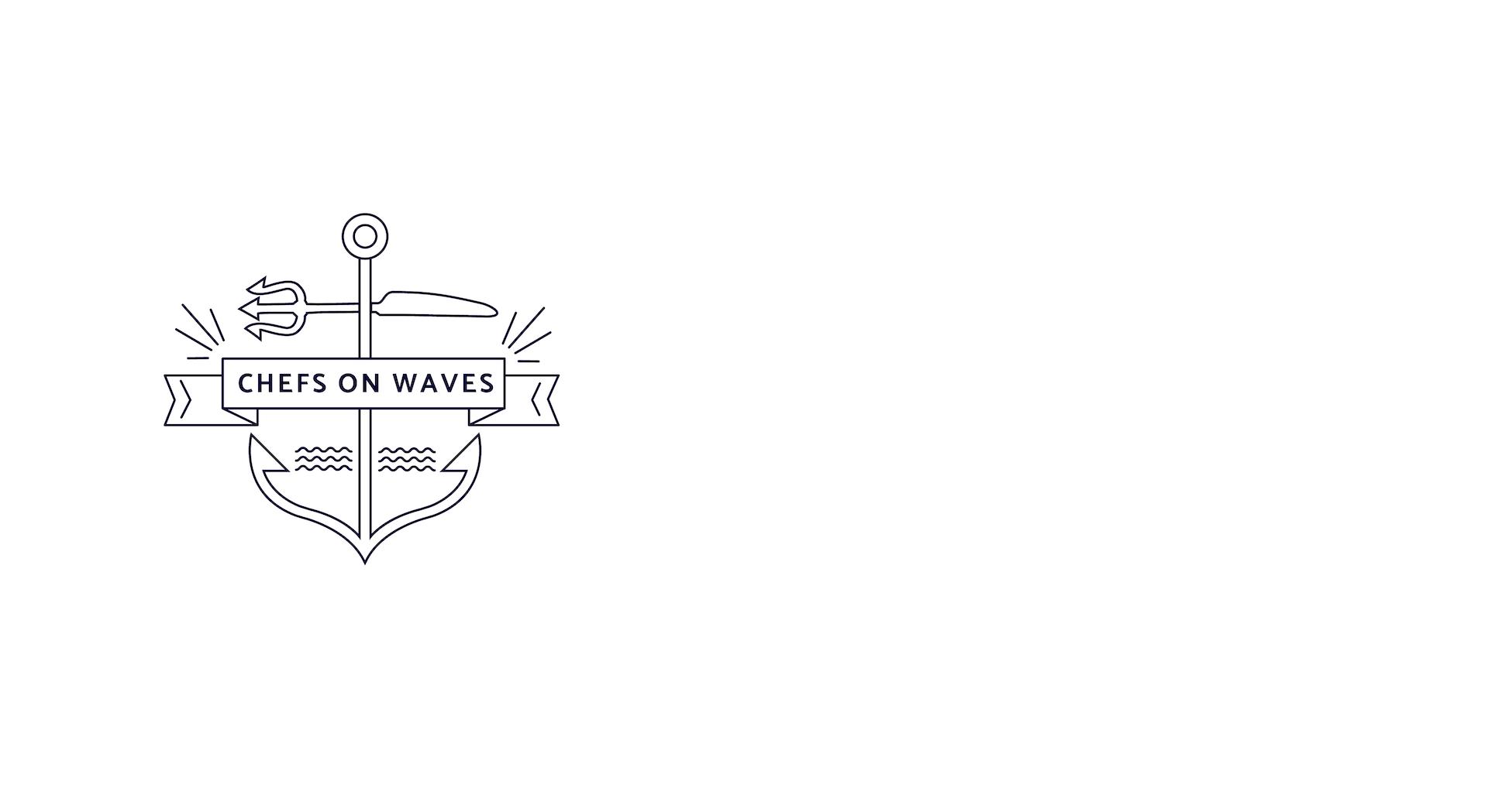 minuteman's Portfolio - Webdesign und Logoentwicklung/Prozess und Entwürfe für Chefs on Waves - noble cuisine for your yacht - Logo