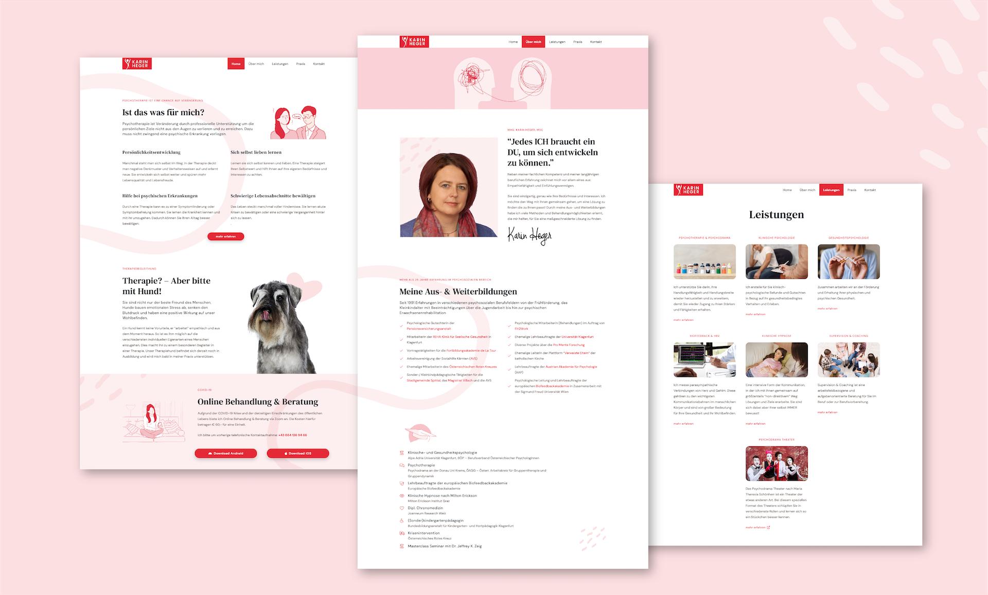 Neue Webseite für die Psychologin Mag. Karin Heger 18